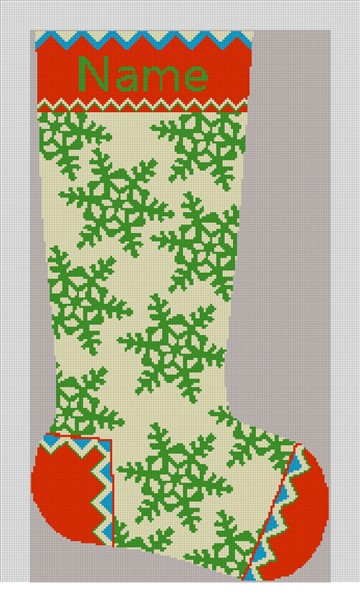 Winterthur Cream Christmas Stocking Canvas