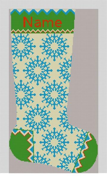 Winterthur Ice Needlepoint Stocking Canvas