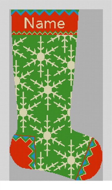 Winterthur Green Needlepoint Stocking Kit