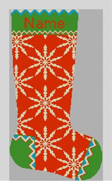 Winterthur Red Needlepoint Stocking Kit