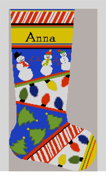 Personalized Christmas Lights Stocking