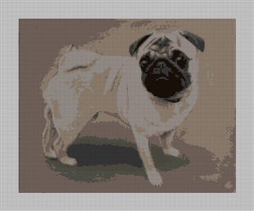 Pug Needlepoint Canvas