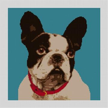 French Bulldog Needlepoint Canvas