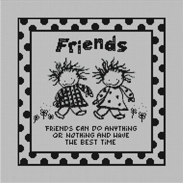 Friends Needlepoint Canvas