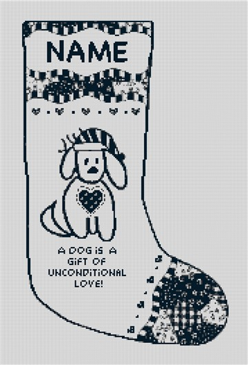 Dog is a Gift Needlepoint Stocking Canvas
