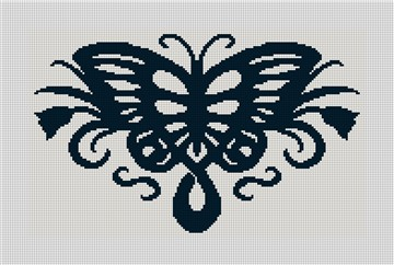 Butterfly Silhouette Needlepoint Canvas