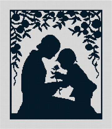 Mother and Child Needlepoint Canvas