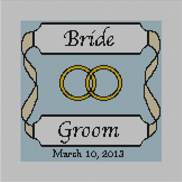 Personalized Yellow Ribbon Ring Bearer Pillow