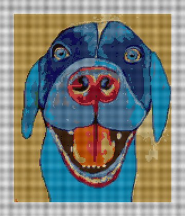 Blue Dog Needlepoint Canvas