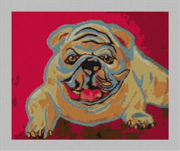 Blue Goose Bulldog Needlepoint Canvas