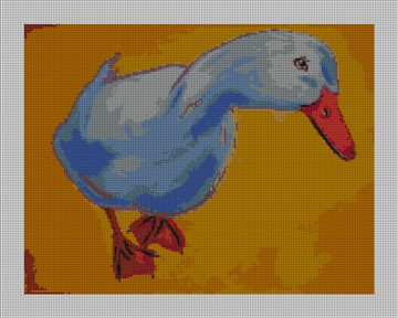 Zelda the Duck Needlepoint Canvas