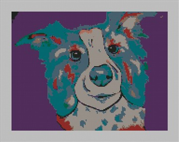 Willie the Dog Needlepoint Canvas