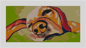 Spoilt Dog Needlepoint Canvas