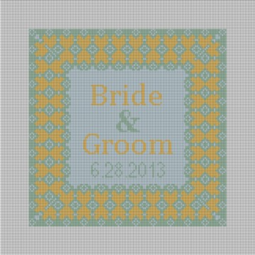Summer Grenelle Ring Bearer Pillow Canvas