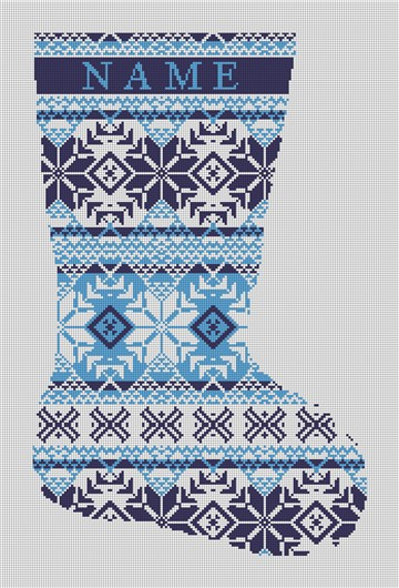 Fair Isle Needlepoint Stocking Canvas