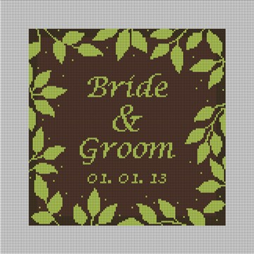 Brown Telluride Ring Bearer Pillow Canvas
