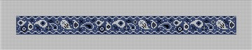 Blue Bandana Dog Collar Needlepoint Canvas