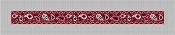 Red Bandana Needlepoint Dog Collar Canvas