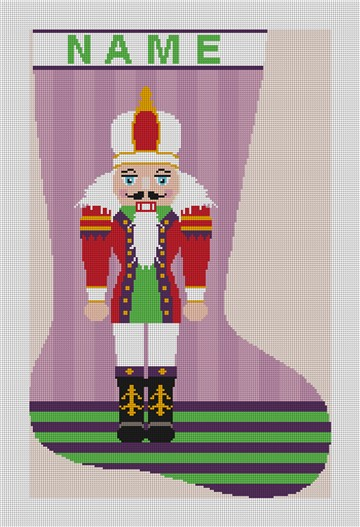 Nutcracker Christmas Stocking Needlepoint Kit