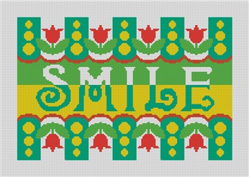 Smile Needlepoint Pillow Canvas