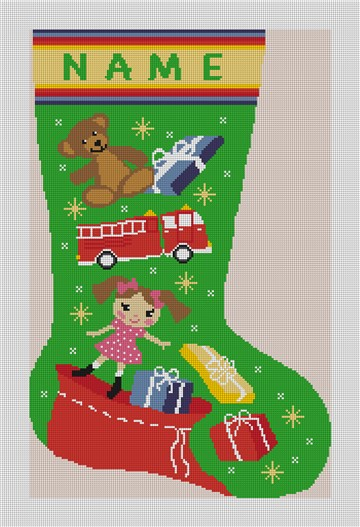 Holiday Magic Stocking Needlepoint Kit