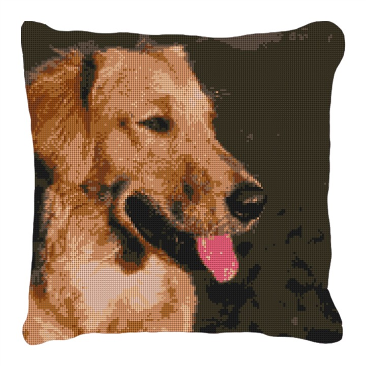 Golden Retriever Puppy Photo Pillow