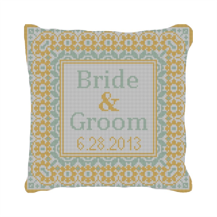 Yellow Taza Personalized Ring Bearer Pillow