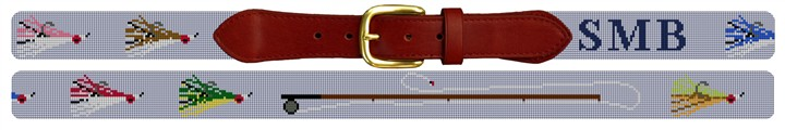 Fly Fisherman Custom Needlepoint Belt