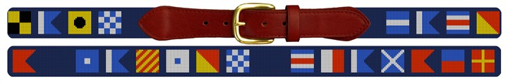 Maritime Signal Flag Needlepoint Custom Belt