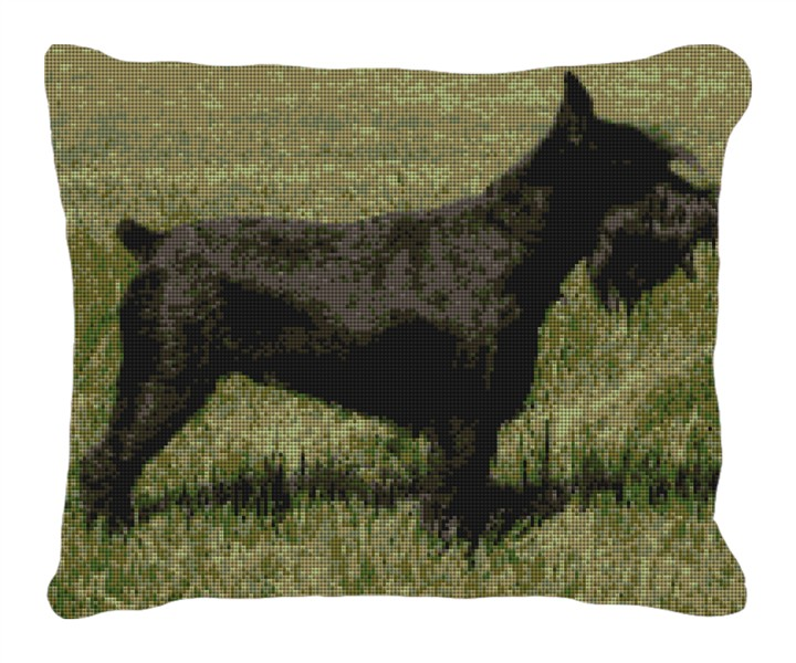 Schnauzer Personalized Needlepoint Pillow