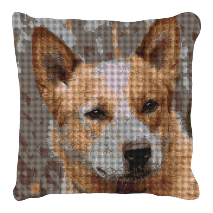 Custom Needlepoint Australian Cattle Dog Pillow