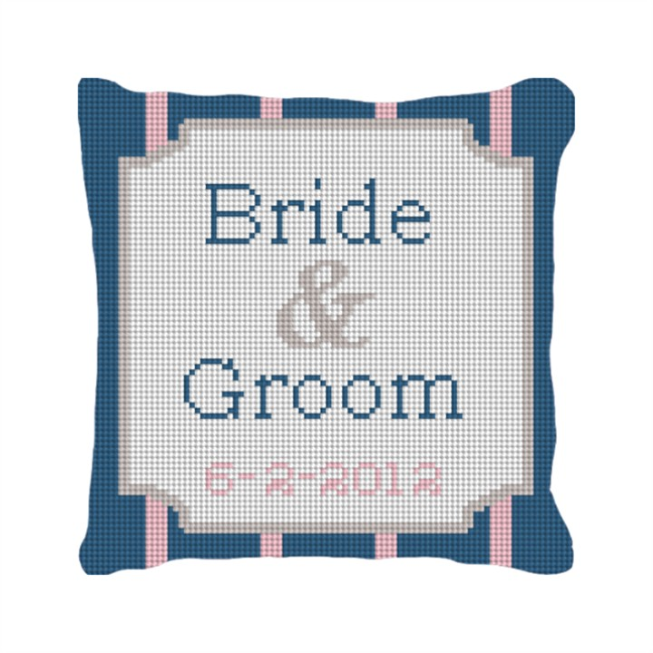 Pinstripe Fully Customized Ring Bearer Pillow