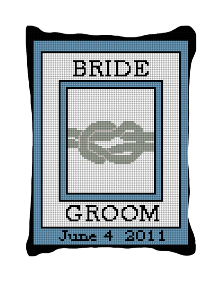 The Knot Custom Ring Bearer Pillow