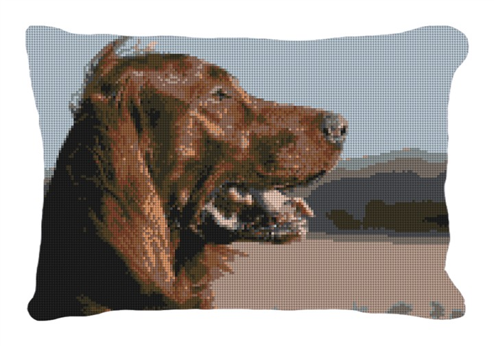 Irish Setter Custom Needlepoint Pillow