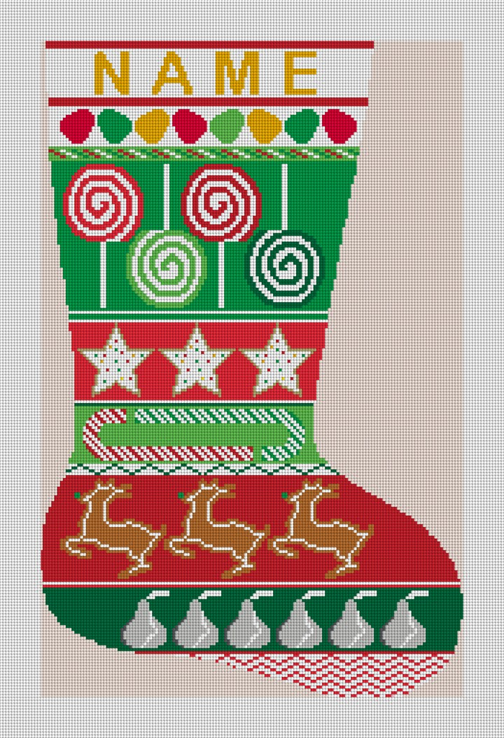 Golf Christmas Stocking