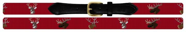 Big Game Needlepoint Belt