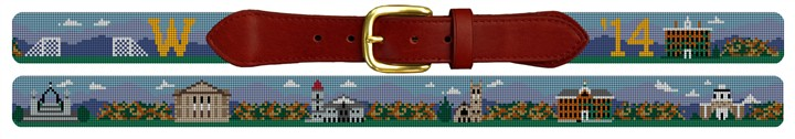 Williams College Campus Needlepoint Belt