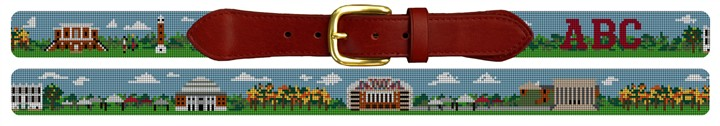University of Alabama Campus Needlepoint Belt