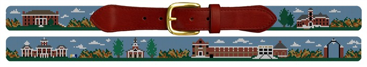 Wabash College Campus Needlepoint Belt