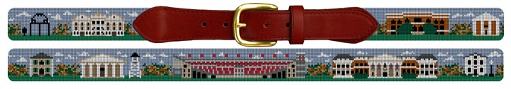 University of Georgia Campus Needlepoint Belt