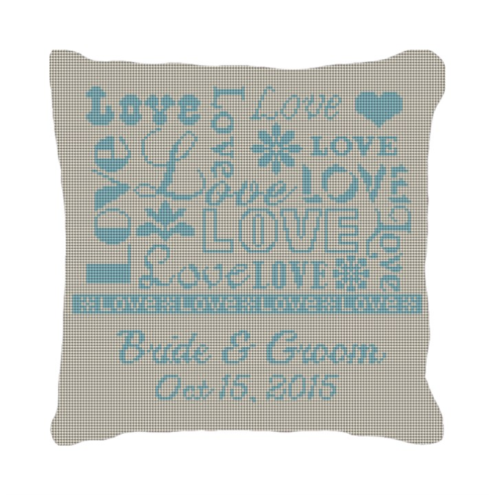Love Ring Bearer Needlepoint Pillow