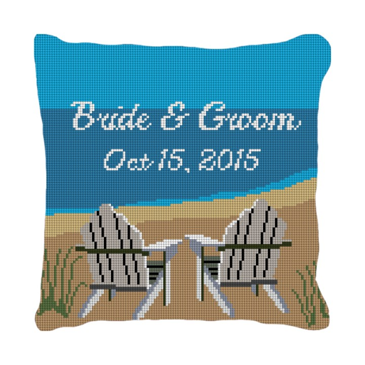 Adirondack Ring Bearer Needlepoint Pillow