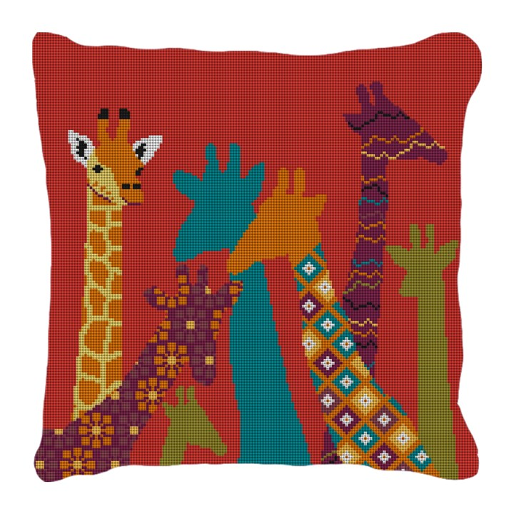 Kids Giraffe Needlepoint Pillow