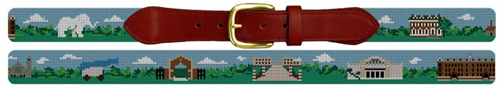 Tufts University Campus Needlepoint Belt