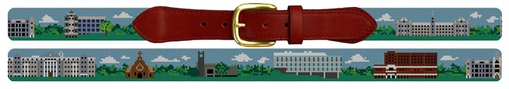 Georgetown University Campus Needlepoint Belt