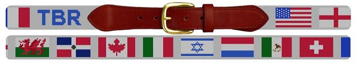 Custom Flag Needlepoint Belt