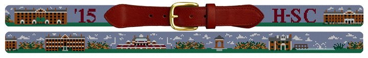 Hampden Sydney College Campus Needlepoint Belt