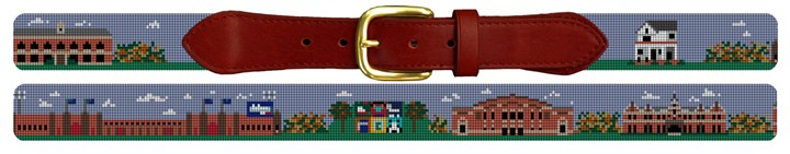 Drake University Campus Needlepoint Belt
