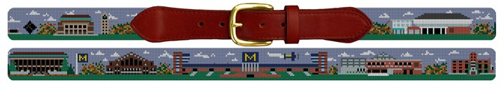 Michigan Campus Needlepoint Belt