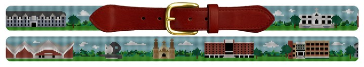 Campus at Villanova University Needlepoint Belt